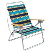 Navy Stripe 3-Position Sand Chair