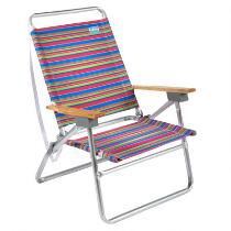 Pink/Green/Blue Stripe 3-Position Sand Chair