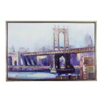 "24""x36"" Brooklyn Bridge Framed Canvas Art"