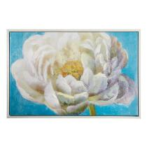 "24""x36"" White Flower Framed Wall Art"