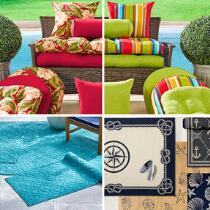 Indoor/Outdoor Cushions and All-Weather Rugs