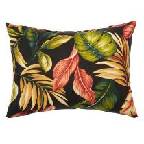 Palm Floral Indoor/Outdoor Oblong Throw Pillow