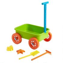 Sand Wagon and Toys Set, 5-Piece