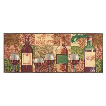 2' x 5' Wine Bottles Tapestry Floor Runner