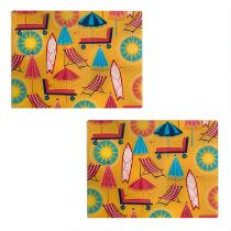 Beach Day Glass Cutting Boards, Set of 2