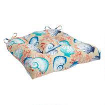 Seashells Indoor/Outdoor Single-U Seat Pad