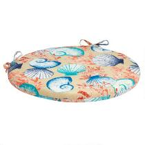 Seashells Indoor/Outdoor Round Bistro Seat Pad