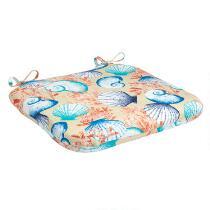 Seashells Indoor/Outdoor Squared Seat Pad