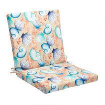 Seashells Indoor/Outdoor Mid-Back Chair Pad