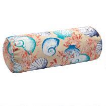 Seashells Indoor/Outdoor Lumbar Roll Pillow