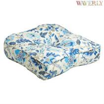Waverly® Blue Floral Indoor/Outdoor Single-U Seat Pad