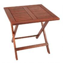"""19.5"""" Acacia Wood Square Folding Table"""