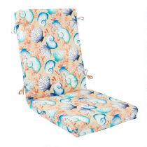 Seashells Indoor/Outdoor Hinged Chair Pad