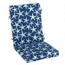 Starfish Indoor/Outdoor Hinged Chair Pad