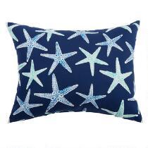 Starfish Indoor/Outdoor Oblong Throw Pillow