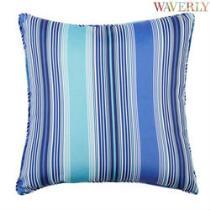 Waverly® Cobalt Stripe Indoor/Outdoor Square Throw Pillow