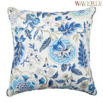 Waverly® Blue Floral Indoor/Outdoor Square Throw Pillow