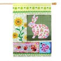 Sunflower Bunny Yard Flag