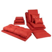 Solid Red Woven Indoor/Outdoor Chair Cushions Collection
