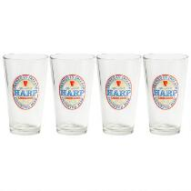 12-Oz. Harp® Lager Beer Pilsner Glasses, Set of 4
