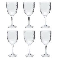 Hammered Acrylic Clear Wine Glasses, Set of 6