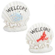 """""""Welcome"""" Lobster/Octopus Shell Decor"""