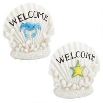 """Welcome"" Crab/Starfish Shell Decor"