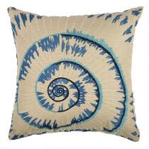 Spiral Shell Indoor/Outdoor Square Throw Pillow