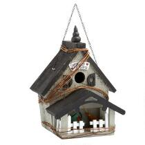 """Home Sweet Home"" Birdhouse with Porch"
