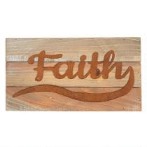 "7""x13"" ""Faith"" Wood Typography Sign"