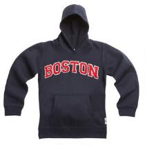 Child's Boston Applique Hooded Pullover Sweatshirt