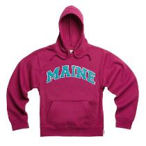 "Adult ""Maine"" Applique Hooded Pullover Sweatshirt"