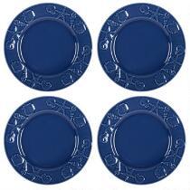 Coastal Living Seascapes™ Shell Embossed Dinner Plates, Set of 4