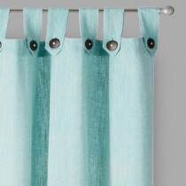 Naya Yarn-Dyed Cotton Button-Up Window Curtains, Set of 2