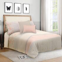 Amelia Floral/Gray Reversible Comforter Set