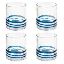 Blue Bohemian Rings Acrylic DOF Glasses, Set of 4