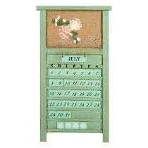 "21"" Coastal Calendar Wall Hanger"