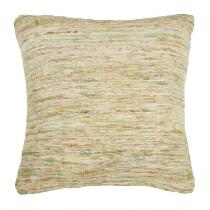 Sari Embroidered Square Throw Pillow
