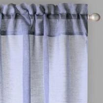 "84"" Solid Sheer Rod Pocket Window Curtains, Set of 2"