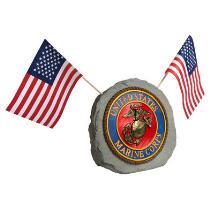 """12.75"""" United States Marines Garden Rock"""