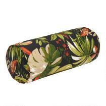 Green Palm Indoor/Outdoor Lumbar Roll Pillow