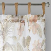 Lush Flowers Tab-Top Window Curtains, Set of 2