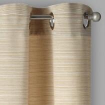 Evolution Textured Stripe Grommet Window Curtains, Set of 2
