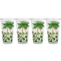 Coastal Living Seascapes™ Havana Palm Tree Cool Acrylic Tumblers, Set of 4