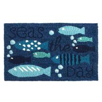 """""""Seas the Day"""" Hooked Multipurpose Mat"""