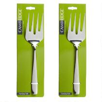 Cambridge® Stainless Steel Serving Forks, Set of 2