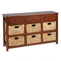Summit 6-Basket/3-Drawer Console