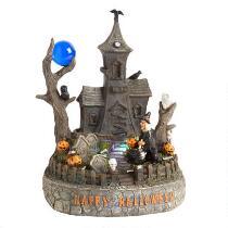 """11"""" Orange LED Halloween Haunted House Decor"""