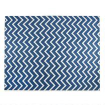 8'x10' Mohawk Blue Chevron Printed Area Rug