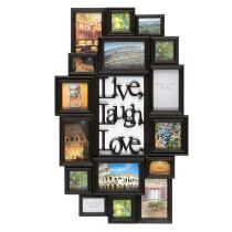 "16-Opening ""Live Laugh Love"" Hanging Photo Frame Collage"